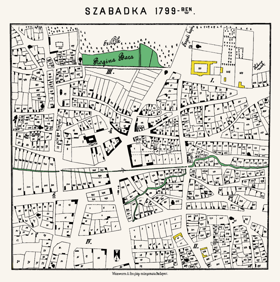City of Subotica (Szabadka) in 1799
