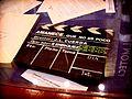 Claqueta original de la película Amanece, que no es poco de José Luis Cuerda. Filmoteca de Albacete.jpg