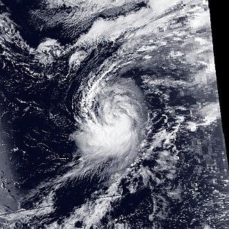 1988 Pacific typhoon season - Image: Clara 1988 08 11 0520Z