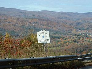Clarksburg, Massachusetts - The town line along the Mohawk Trail