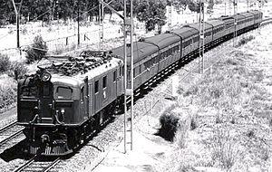 South African Class 3E - Class 3E on the Pretoria-Johannesburg express commuter