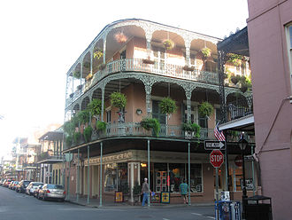 French Americans - St. Philip Street at Royal Street, French Quarter, New Orleans.