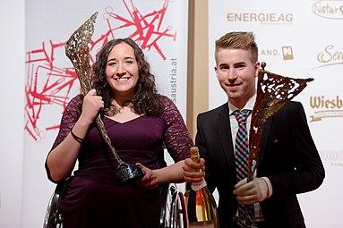 Claudia Lösch Patrick Mayrhofer Gala Nacht des Sports Österreich 2015.jpg