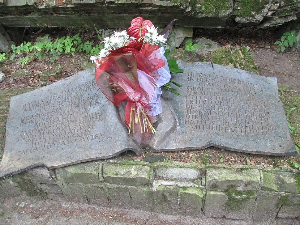 Claus von Stauffenberg memorial in Wolfsschanze