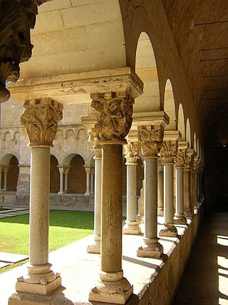 Monastery of Sant Cugat - View of the cloister.