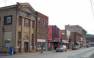 Clendenin, West Virginia - Maywood Avenue in downtown Clendenin in 2007