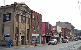 Clendenin, West Virginia - Maywood Avenue in downtown Clendenin in 2007