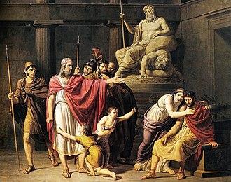 Leonidas II - Cleombrotus II ordered into banishment by Leonidas II king of Sparta, Pelagio Palagi (1775-1860).
