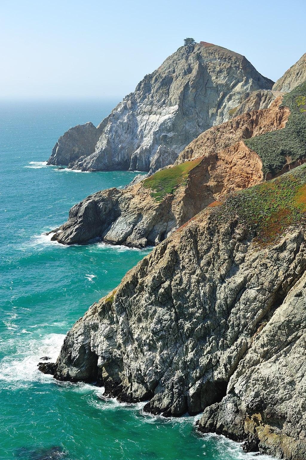 Cliffs at devils slide california