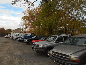 Clifton (Erie Railroad station) - The site of the Clifton station in October 2014, now the site of a parking lot for a business.