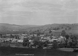 View of Clun from Woodside Field