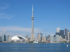 Geography of Ontario - The Toronto skyline seen from Toronto Harbour