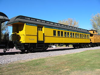 Mid-Continent Railway Museum - Coach-baggage  combination car, Chicago and North Western