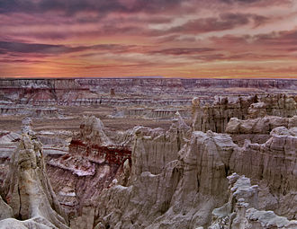 Tuba City, Arizona - Coal Mine Canyon at sunset