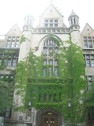 University of Chicago - Cobb Lecture Hall, part of the Main Quadrangles, was the first and most expensive of the campus' original 16 buildings. Designed by Henry Ives Cobb (no relation to benefactor Silas B. Cobb) and constructed in 1892, it was modeled after Gothic buildings at University of Oxford.