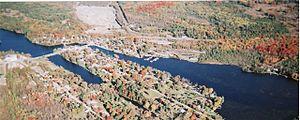 Coboconk - Aerial view of Coboconk in 2007