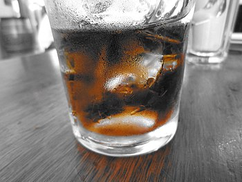 a photo of a glass of coke taken by my new com...