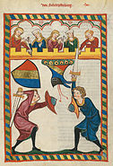 Codex Manesse 204r Von Scharpfenberg