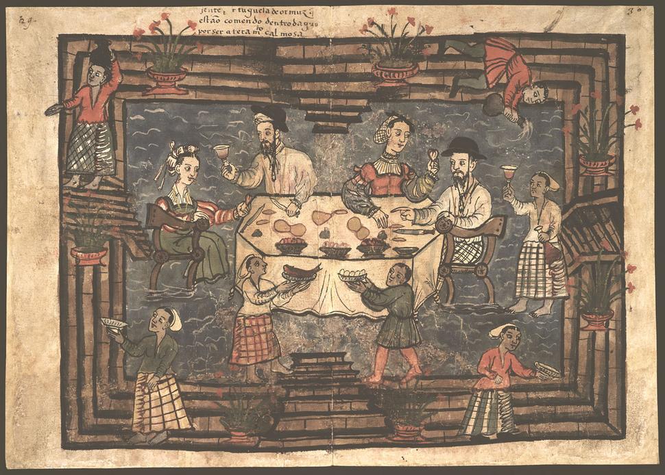 Codice Casanatense Portuguese Dinner in Hormuz