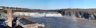 Mohawk River - Cohoes Falls, near the eastern end of the Mohawk River in Cohoes, New York