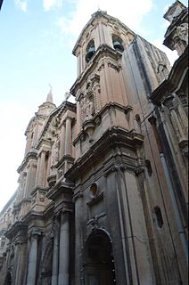 Collegiate Parish Church of St Pauls Shipwreck Church in Valletta, Malta