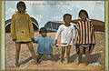 Color Post card. Four Indian children on an Alaskan beach. - NARA - 297761.jpg
