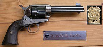 Colt Single Action Army - Colt SAA SAPD, Badge