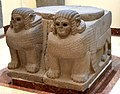 Column base in the shape of a double sphinx. From Sam'al. 8th century BC. Museum of the Ancient Orient, Istanbul.jpg