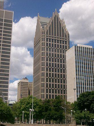 Ally Detroit Center - Ally Detroit Center from Jefferson Avenue