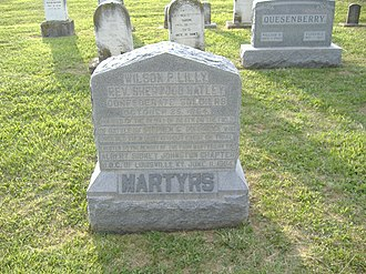 Confederate Martyrs Monument in Jeffersontown - Image: Confederate Martyrs J Town 2