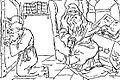 Constantin Jiquidi - Sf. Petru se uită prin gaura cheeĭ raiuluĭ (Vaca Babei Floarea, de Urechia).JPG