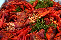 Cooked crayfish with dill.jpg
