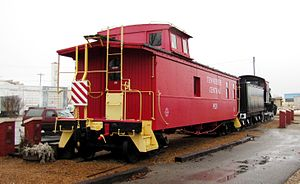 Cookeville Railroad Depot - Cupola-style caboose at the Cookeville Depot Museum