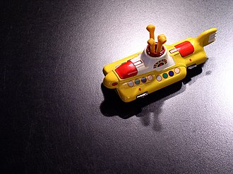 Yellow Submarine (film) - In the late 1960s, Corgi Classics Ltd. (formerly known as Corgi Toys) issued a licensed die-cast toy model of Yellow Submarine. In 1999, this particular model was re-issued as a collector's item (as shown)
