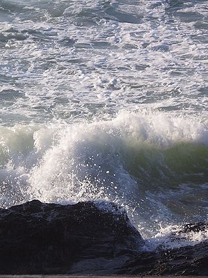 Kiwa (mythology) - Waves of Hinemoana are eroding the land