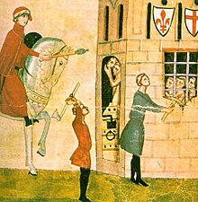 Giovanni Villani, Corso Donati fa liberare dei prigionieri, in Cronaca, XIV secolo. Corso Donati, esponente di punta dei Neri, fu acerrimo nemico di Dante, il quale lancerà contro di lui violenti attacchi nei suoi scritti[53].