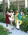 Cosplayers of Tomoyo Daidouji, Sakura Kinomoto and Syaoran Li at Anime Expo 2003-07.jpg