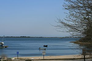 Cotuit, Massachusetts - Rope's Beach looking out onto Cotuit Bay in April 2008