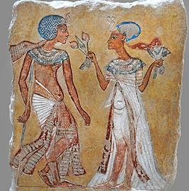 Couple royal dans un jardin (Neues Museum, Berlin) (11545827426).jpg