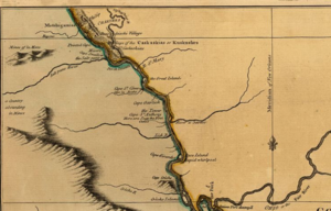 Capes on the Mississippi River - Map by Lieut. Ross - 1772