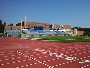 Wildcat Stadium (University of New Hampshire) - Image: Cowell Stadium, UNH, Durham NH