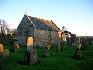Coylton - The Hamilton Aisle and archway at the old parish kirk, Low Coylton