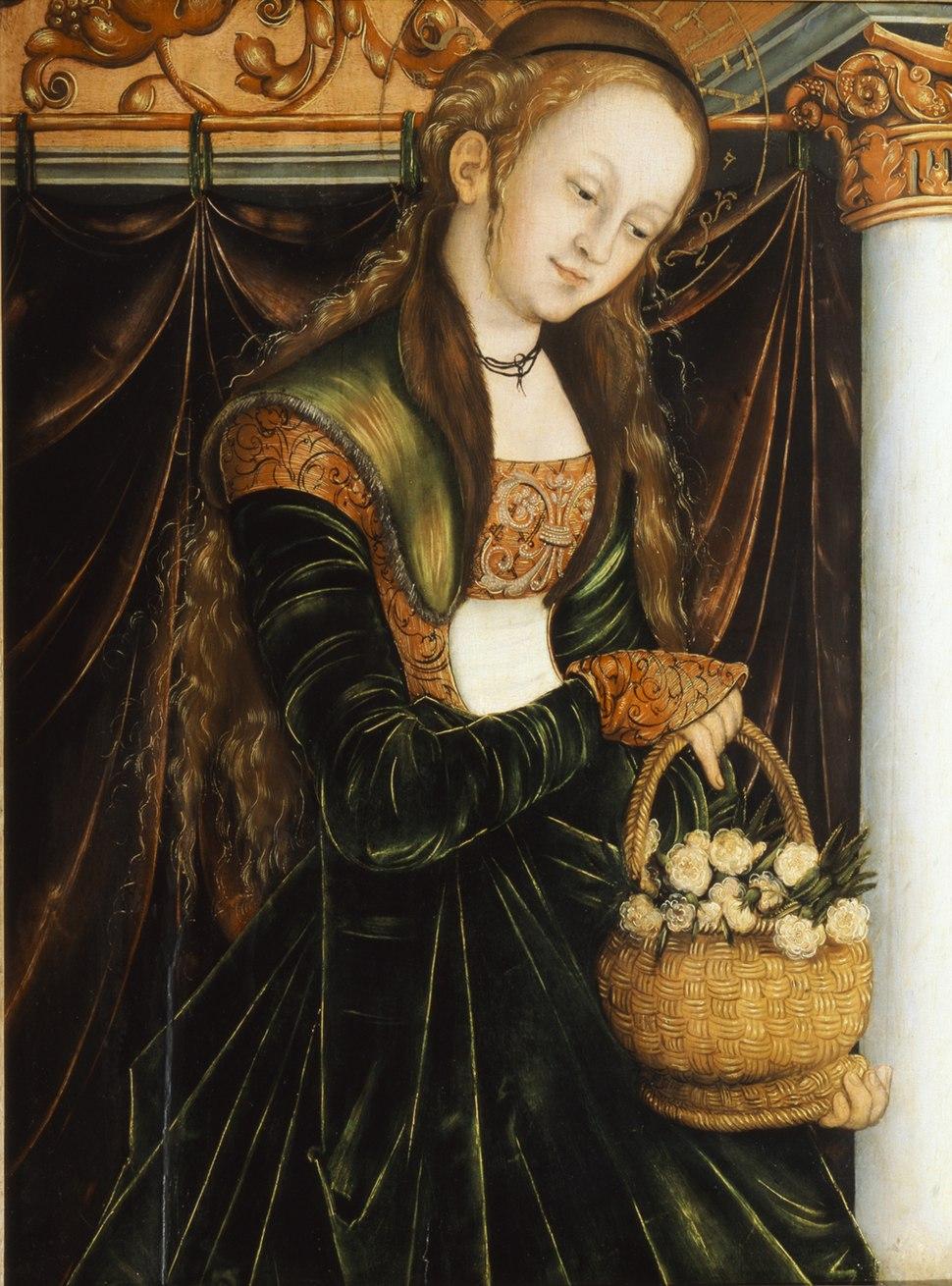 Cranach, Lucas, d.%C3%84. - Die Heilige Dorothea - c. 1530