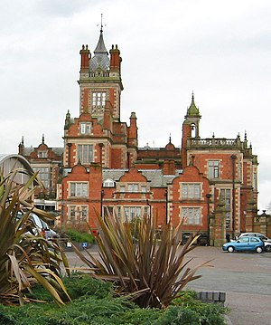 Edward Middleton Barry - Crewe Hall, west face, showing Barry's tower and Bower's extension