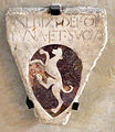 Cripta di san lorenzo (salone donatello), stemma de fortuna.JPG