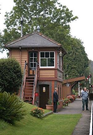 Crowcombe Heathfield railway station - Image: Crowcombe Heathfield railway station signal box