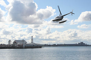 Geelong Waterfront - Image: Cunningham pier helicopter geelong
