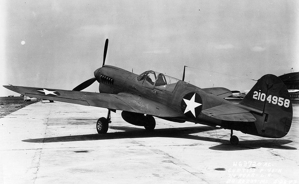 Curtiss P-40N on ground