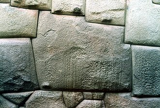 Inca architecture - Twelve angle stone in the Hatun Rumiyoc street of Cusco, is an example of Inca masonry