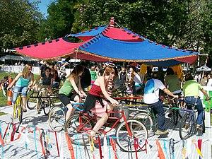 Bumbershoot - Image: Cyclecide carousel Bumbershoot 07